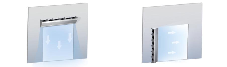 Kurtyny powietrzne przemysłowe SV - pozioma i pionowa