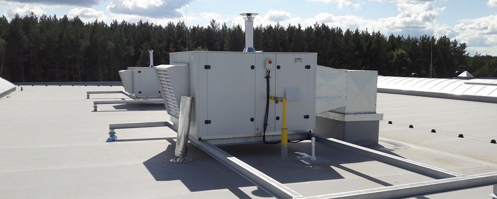 nagrzewnice powietrza gazowe typu rooftop